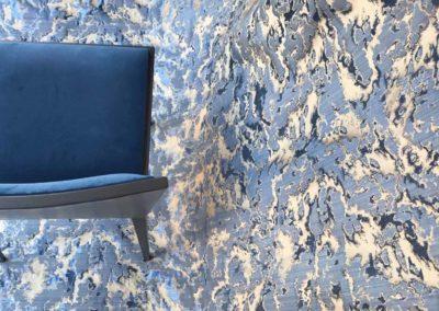 damasc Nuvole blue